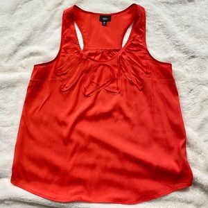 EUC Red/Orange Racerback Tank Blouse, Size M